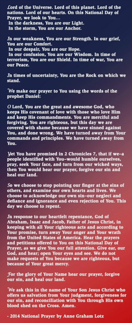 NDP 2014 anne graham lotz's prayer